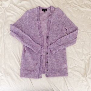 J. Crew cardigan small s purple 2 4 sweater